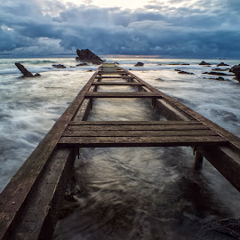 by Alessandro Genero - Landscapes Waterscapes ( #sea #landscapes #sunset #clouds #waves, , landscape, beach )