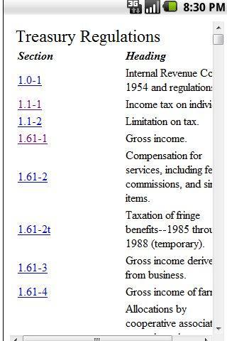 Tax Regs
