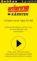 Screenshot of Alte Antenne Kärnten App