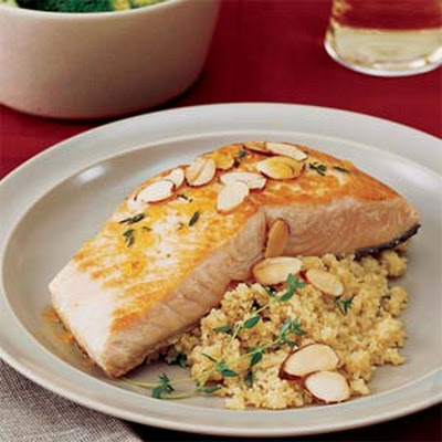 Orange-Seared Salmon with Almonds