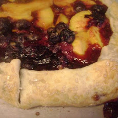 Blueberry and Peach Galette