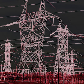 BERZERK by Donald Darneille - Abstract Patterns ( electicity, towers, wires, high voltage, power lines, power )