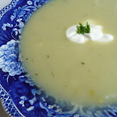 Roasted Garlic, Potato, Leek and Fennel Soup
