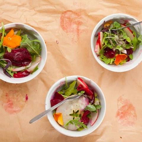 Apple, Fennel & Roasted Beets with Pomegranate Vinaigrette
