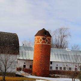 Leaning Tower of Hastings by Jazz Johnson - Buildings & Architecture Other Exteriors ( farm, brick, landscape, silo, rural )