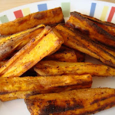 Oven-Fried Sweet Potato Wedges