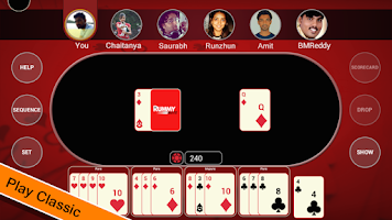 Screenshot of Social Rummy Blitz