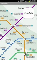 Screenshot of Singapore MRT Map