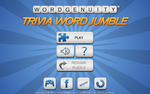 Wordgenuity Trivia Word Jumbl