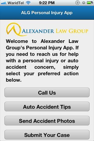 ALG Personal Injury App