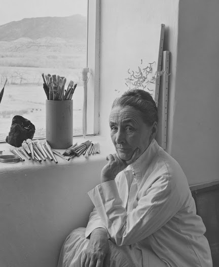 Santa Fe photographer Laura Gilpin (1891–1979) photographed O'Keeffe and her home in 1953,