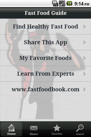 Fast Food Guide by Stop and Go