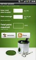 Screenshot of Wall Paint Calculator