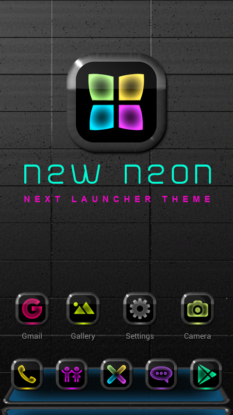 NEW NEON Next Launcher Theme Screenshot 0