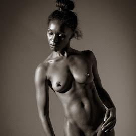 Natasha by Peter McLean - Nudes & Boudoir Artistic Nude ( sepia, art nude, monochrome, low key, thoughtful )