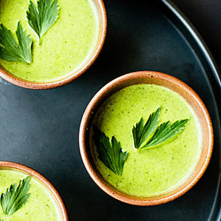 Lovage and Lettuce Soup