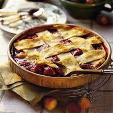 Fig-and-Raspberry Cobbler