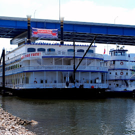 Tennessee River Boats by Phil Grierson - Transportation Boats ( history, boats, tennessee, classic, river )