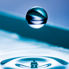 Orb by Gary Kasl - Abstract Water Drops & Splashes ( cool, water, san diego, orb, blue, drop, orbs )