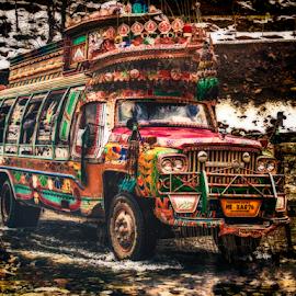 Travel Time by Fahad Iqbal - Transportation Other ( pakistan, bus, hdr, northern area, transport, kashmir, transportation )