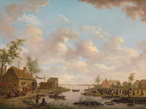 RIJKS: Hendrik Willem Schweickhardt: Landscape with Fishermen and Farmers Extracting Peat in a Marsh 1783