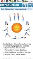 Screenshot of Yoga for Sun Salutation.