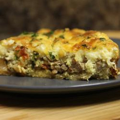 Sausage and Sun-Dried Tomato Quiche