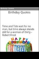 Screenshot of Birthday Quotes