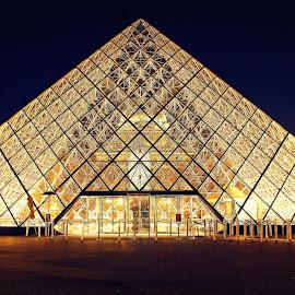 Louvre Museum, Paris, France by Andie Andros - Buildings & Architecture Other Exteriors ( paris, louvre, the viewing deck, france, museum )