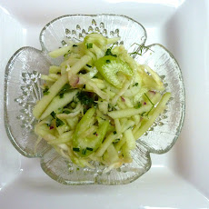 Refreshing Apple and Two Celery Salad for the Wintertime Blues