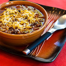 Crockpot Pumpkin Chili with Ground Beef, Black Beans, and Kidney Beans