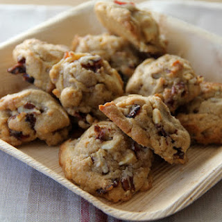 Soft White Chocolate Chip Cookies with Cranberries and Pecans