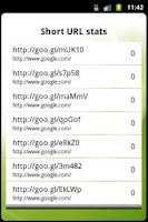 Screenshot of Goo.gl URL shortener