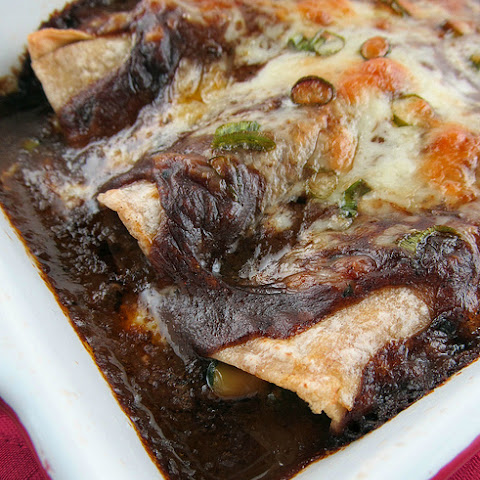 Vegetable Enchiladas with Chile Gravy