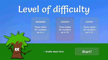Screenshot of Math Game: Multiplication