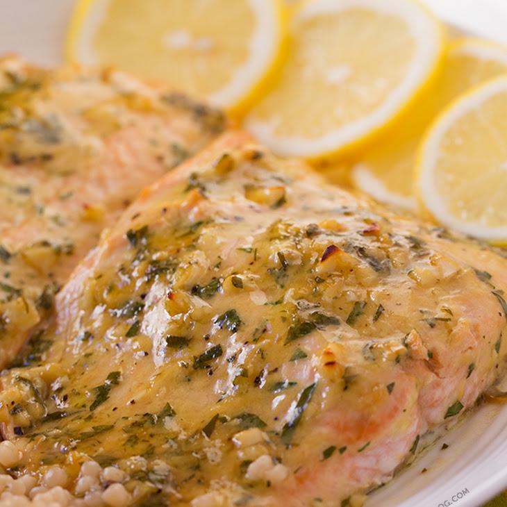 Baked Salmon with Honey Dijon and Garlic Recipe | Yummly