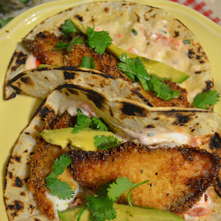 Fish Tacos With Peppadew Tartar Sauce.