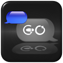 Blue Metal Theme for GO SMS icon