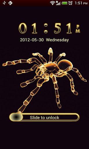 GO Locker Neon Yellow Spider