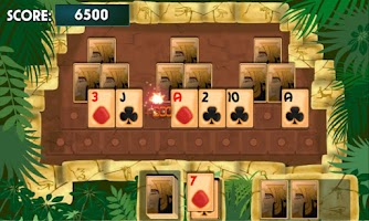 Screenshot of PYRAMID SOLITAIRE card game