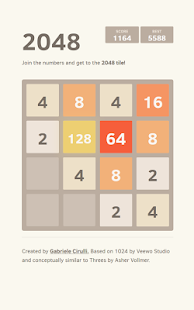 2048 game - screenshot