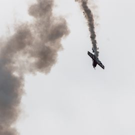 Acrobatic Plane  by D Clark  / B  Worthington - Transportation Airplanes ( airplane, aircraft, planes, air show, acrobatic,  )