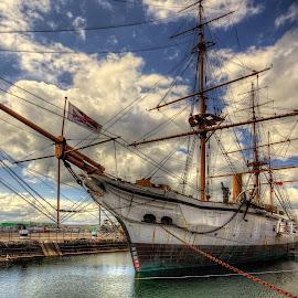 HMS Gannet... by Graham Markham - Transportation Boats ( history, yard, chatham, boat, rochester )