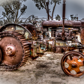 Fordson Major by Allyn Cooper - Transportation Other ( antiques and memorabilia, tractors, hdr, hyden, farming, western australia )