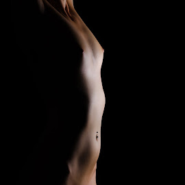 Light by Justin Case - Nudes & Boudoir Artistic Nude ( nude, female, woman, shapes, profile, sensual )