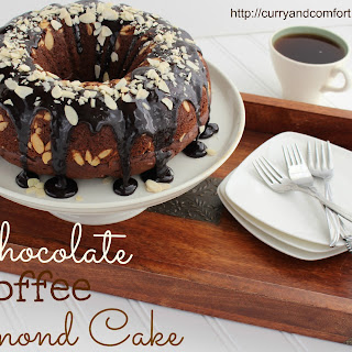 Chocolate Coffee Cake with Almonds