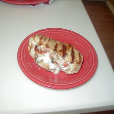 Grilled Basil-Tomato-Goat Cheese Chicken
