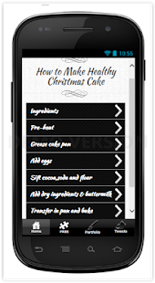 Make Healthy Christmas Cake - screenshot