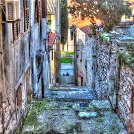 Pula,Croatia by Danijel Andreas Ivanek - City,  Street & Park  Street Scenes ( stairs, street, street scene, street photography, city,  )
