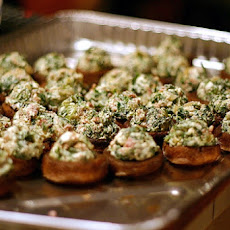 Roasted Mushrooms Stuffed with Feta, Spinach, and Bacon